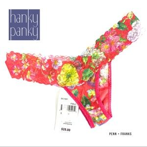 Hanky Panky Red Floral Superbloom Low Rise Thong